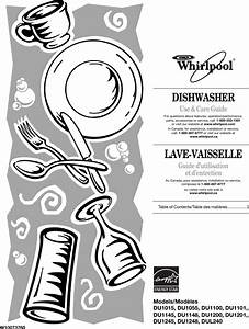 Whirlpool Dishwasher Du1015 Users Manual