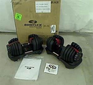 Pair of Bowflex Selecttech 552 Adjustable Dumbbells 100 2 ...