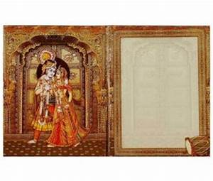 Hindu wedding card with traditional god images wedding for Wedding cards god images