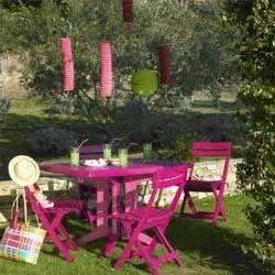 Salon De Jardin Miami : salon de jardin table vega fuchsia 4 chaises miami pliantes fuchsia oogarden ~ Melissatoandfro.com Idées de Décoration