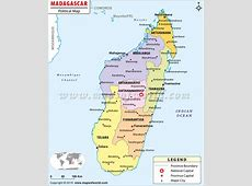 Political Map of Madagascar Madagascar Provinces Map