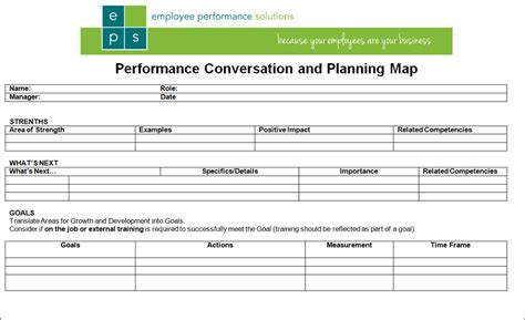 Simple 1page Performance Review Form