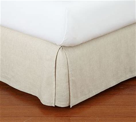 Pottery Barn Bed Skirts by Linen Solid Bed Skirt Traditional
