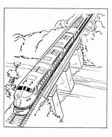 Train Coloring Pages Trains Diesel Passenger Drawing Engine Sheets Printable Railroad Streamlined Rocks Electric Scene Colouring Steam Bridge Thomas Locomotive sketch template
