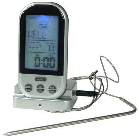 thermomètre à sonde cuisine yoko design thermo sonde de cuisson sans fil achat