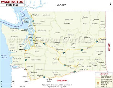 buy washington state map