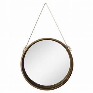 Miroir Rond Corde : miroir en m tal suspendu par une corde 20 x 2 x 20 5 39 39 d cors v ronneau ~ Teatrodelosmanantiales.com Idées de Décoration