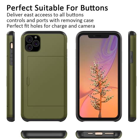 Iphone 11 pro max carbon fiber slim wallet case with card holder. Credit Card Holder Wallet Cover For iPhone 11 Pro MAX Hybrid Rugged Rubber Case | eBay