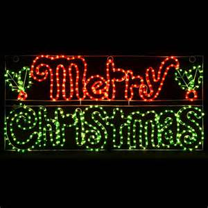 merry christmas mains voltage festive rope light sign suitable for indoor outdoor use