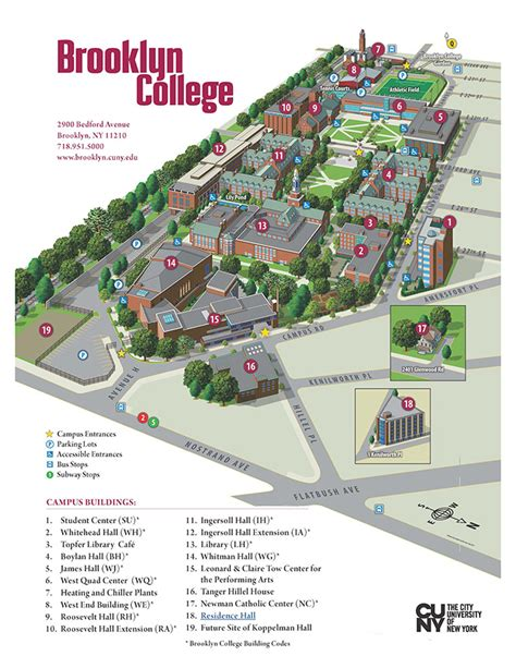 campus map brooklyn college