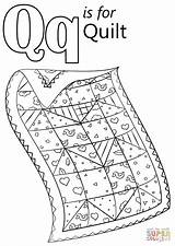 Quilt Coloring Letter Pages Preschool Crafts Printable Alphabet Quail Letters Worksheets Activities Words Craft Supercoloring Games Super Drawing Dot Pattern sketch template