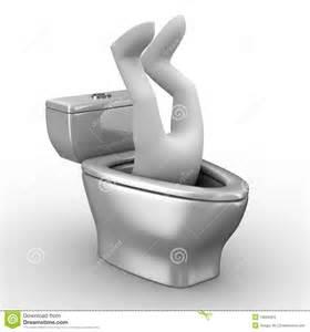 homme dans la cuvette de toilette images stock image 13609464
