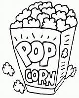 Popcorn Coloring Printable Pages Box Snack Corn Pop Drawing Healthiest Template Bildresultat Foer Google Sheet Turtle Se Drawings Getcolorings Colored sketch template