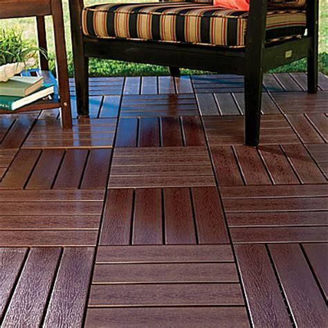 faux wood deck squares contemporary outdoor decor by