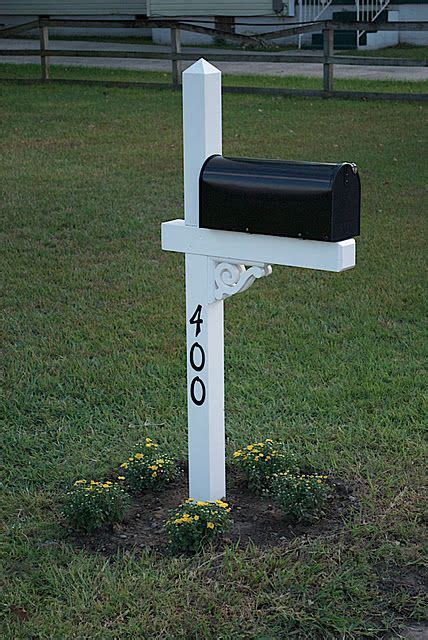 Better box mailbox paper box add on. Mailbox - number on post | House numbers, Mailbox design