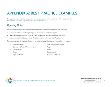 The information included in the appendix must bear directly. Appendix A: Best Practice Examples   Data Visualization ...