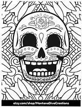 Skull Coloring Sugar Come Hey Adult Skulls Vader Say Darth sketch template