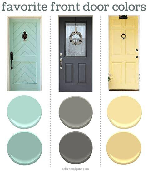 choosing a front door color paint colours