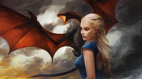 khaleesi game  thrones  dragon artwork hd tv shows