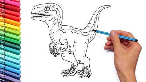 baby blue raptor coloring pages