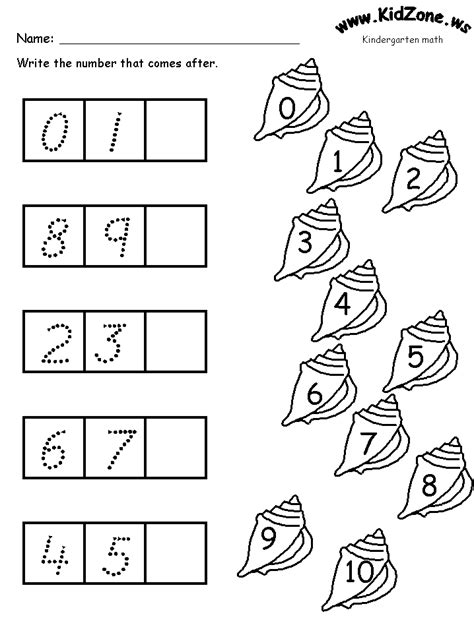 math activity pages what comes next number sequencing ocean theme for kindergarten ocean
