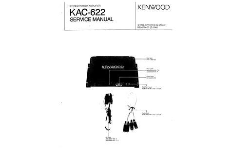 Car Audio Speakers Kenwood Kac Wiring Diagram