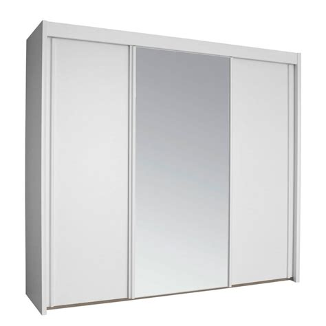 Wide White Wardrobe by Rauch Imperial 3 Door 250cm Wide Sliding Wardrobe In