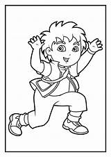 Coloring Diego Pages Dora Printable San Explorer Print Sheets Name Getcolorings Cartoon sketch template