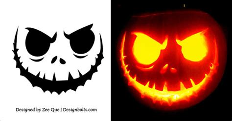 10 Free Scary Halloween Pumpkin Carving Stencils, Patterns