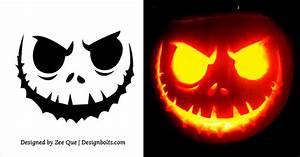 10, Free, Scary, Halloween, Pumpkin, Carving, Stencils, Patterns, U0026, Ideas, 2017