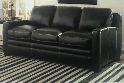 black leather queen size sofa bed brand   box