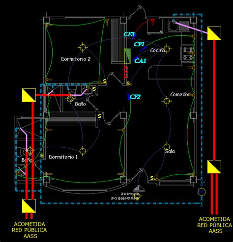 small single family house  dwg plan  autocad designs cad
