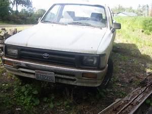 1994 Toyota Pickup Truck White 4 Speed Manual Transmission