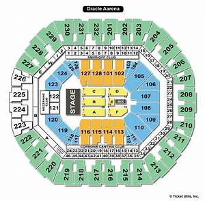 Oakland Oracle Seating Chart Oracle Arena Oakland Ca Seating Chart View