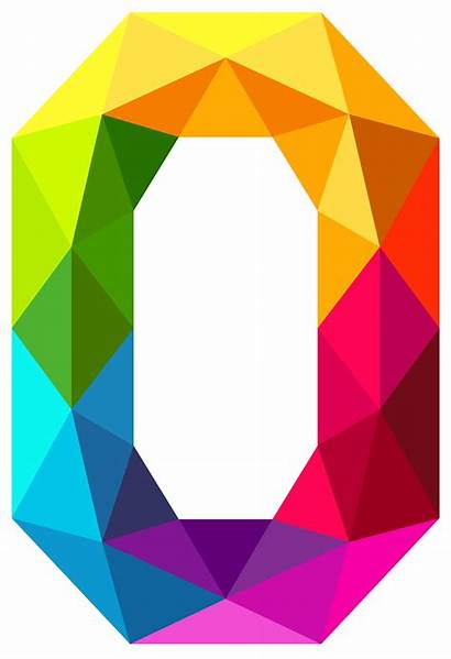Number Clipart Colourful Zero Triangles Numbers Background