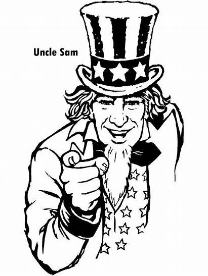 Coloring Uncle Sam July Special Patriotic 4th