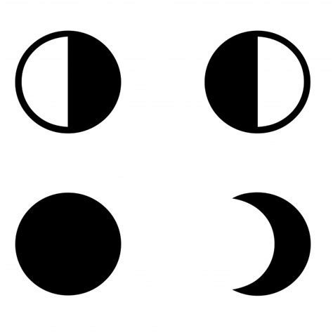 moon phases silhouette  stock photo public domain