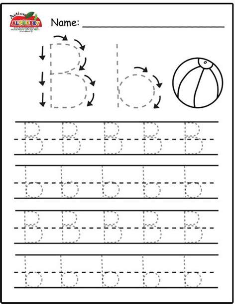 trace letters the letter b preschool lesson plans