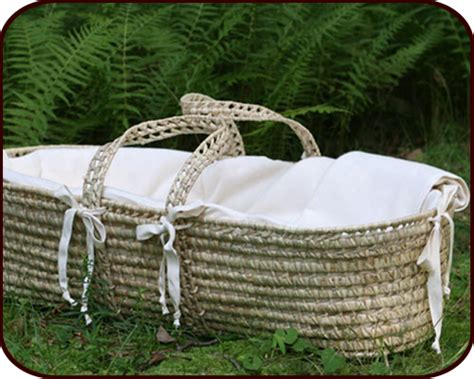 merry fellows organic cotton baby moses basket
