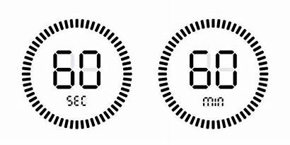 Timer Countdown 60 Second Seconds Vector Icons