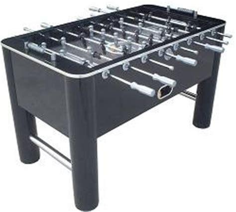classic sport  shiny black soccer game foosball table