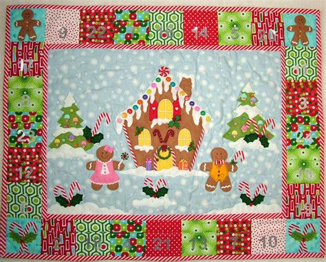 Patchwork Applique by Patchwork Applique Gingerbread House Advent
