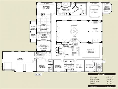 courtyard plans style kitchen floors style home floor