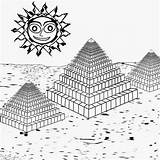 Coloring Sunrise Activities Break Sun Printable Drawing Egyptian Pyramids Understand History Moon sketch template