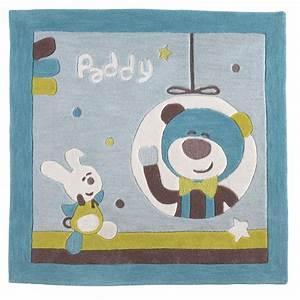 Tapis de chambre bebe 110x110cm paddy de sauthon baby deco for Tapis chambre enfant avec fenetre pvc la garde