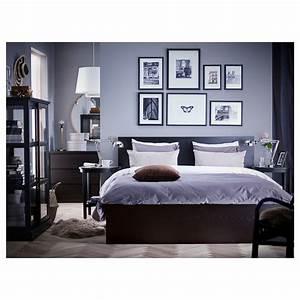 Lit Haut Ikea : malm cadre de lit haut brun noir 160 x 200 cm ikea ~ Teatrodelosmanantiales.com Idées de Décoration