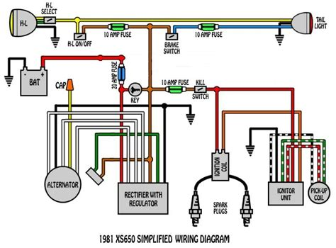 xs650 wiring diagram 1980 xs650 alternator stator wiring questions yamaha