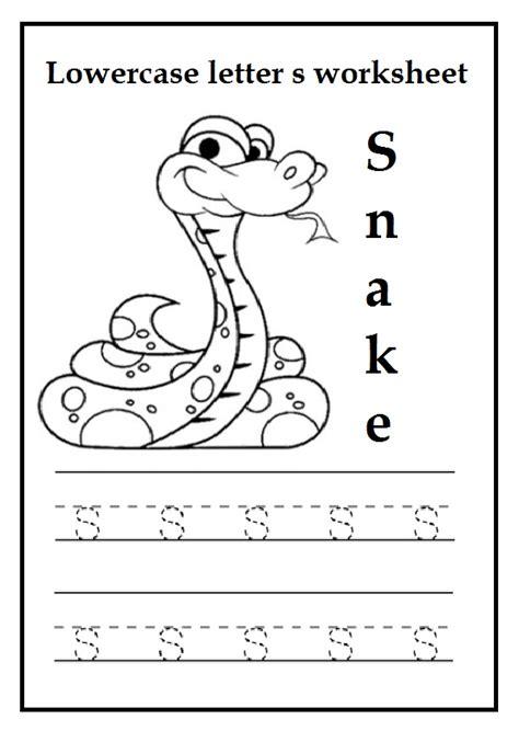 Lowercase Letter S Worksheets  Free Printable  Preschool And Kindergarten
