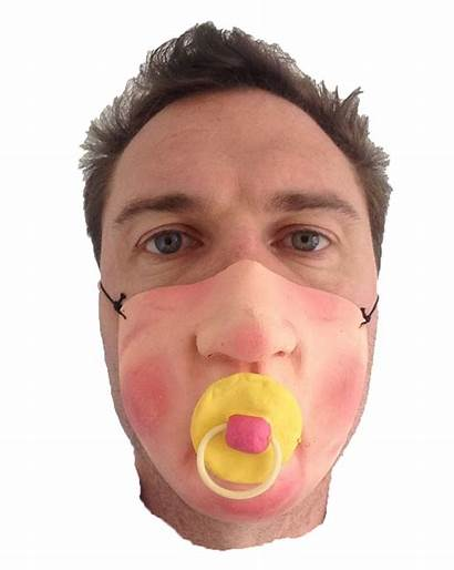 Face Mask Half Dummy Dick Nose Rubber