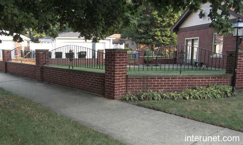 brick fence ideas brick iron fence picture interunet